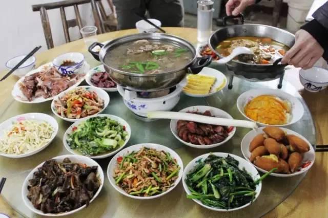 农村春节饮食